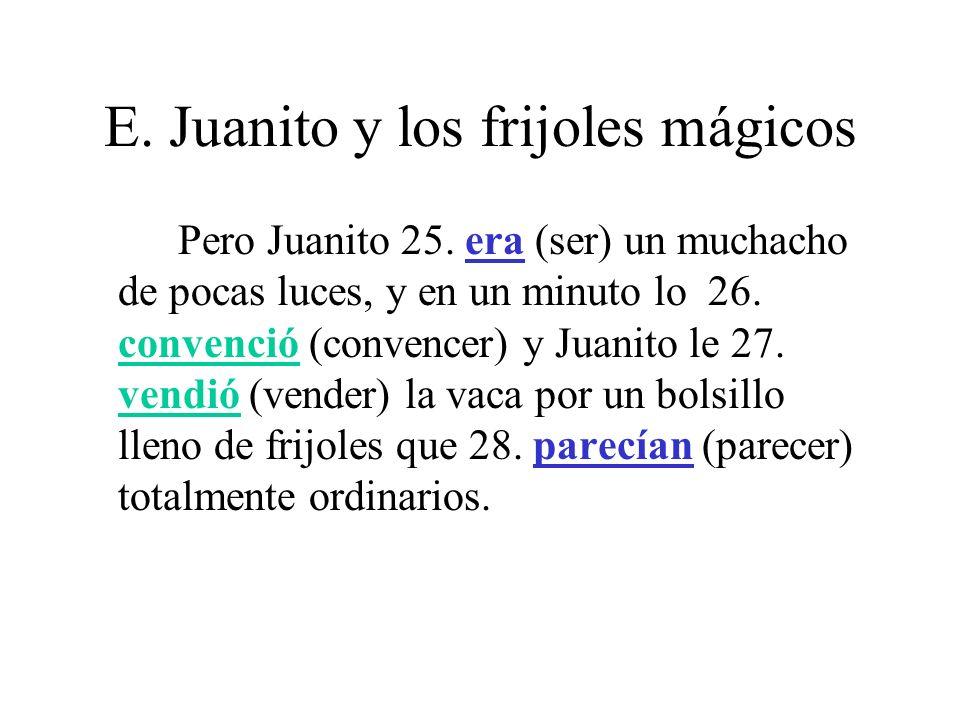 E.Juanito y los frijoles mágicos Cuando Juanito 29.