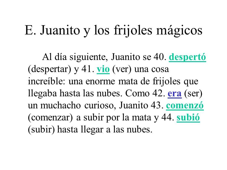 E.Juanito y los frijoles mágicos Allí 45.