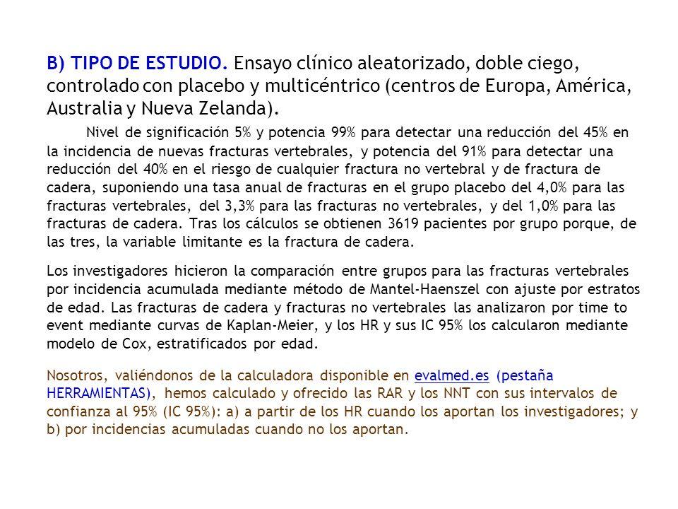 B) TIPO DE ESTUDIO.