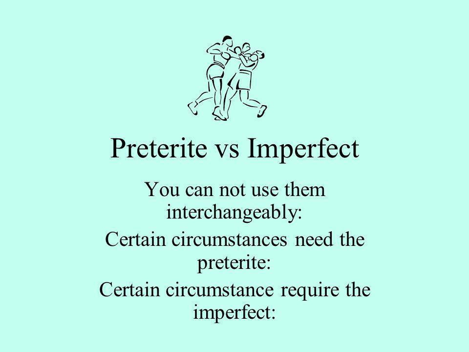 Preterite vs Imperfect Span III Pre-AP (Dooley)