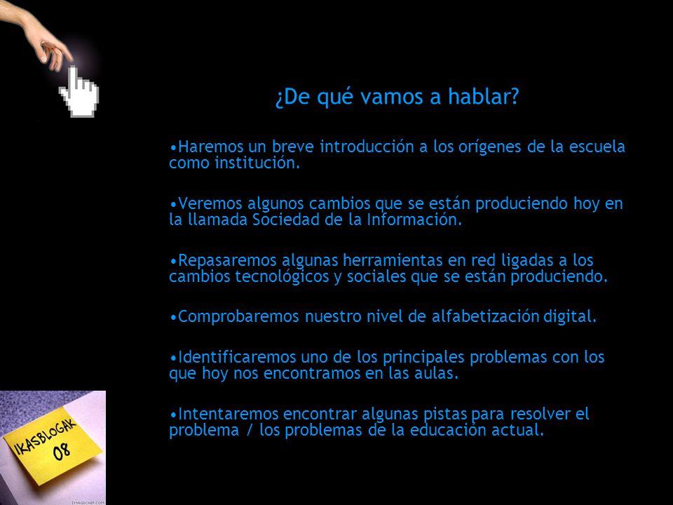 Tener ordenadores en las aulas no significa que ya se haya implantado la informática en la educación Antoni Zabala, Director de la Editorial Graó Profesores y alumnos utilizan Internet y las nuevas tecnologías por su cuenta, pero al encontrarse en el aula, esto desaparece.