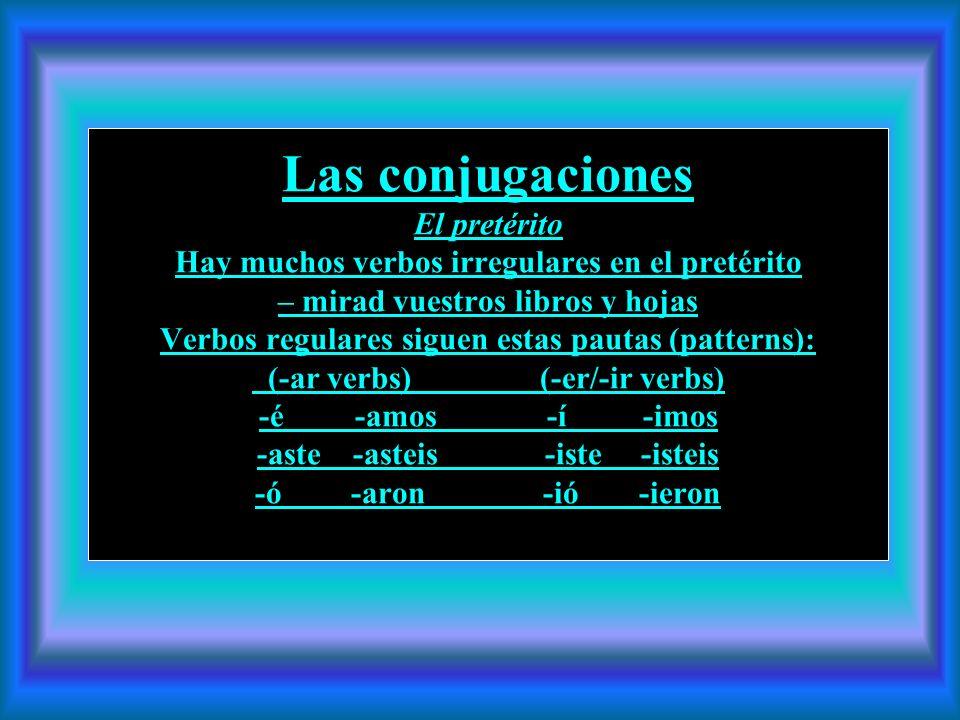 El pretérito y El imperfecto El pretérito y el imperfecto son los dos tiempos del pasado en español. Usamos los dos en maneras diferentes para describ