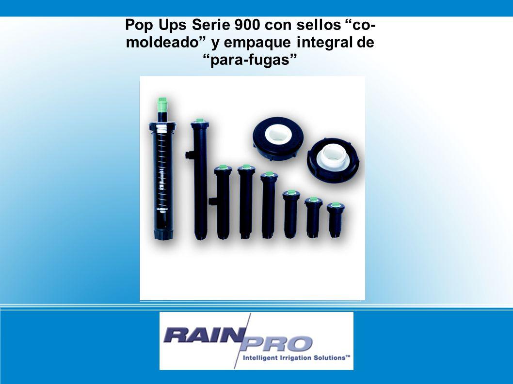 Pop Ups Serie 900 con sellos co- moldeado y empaque integral de para-fugas