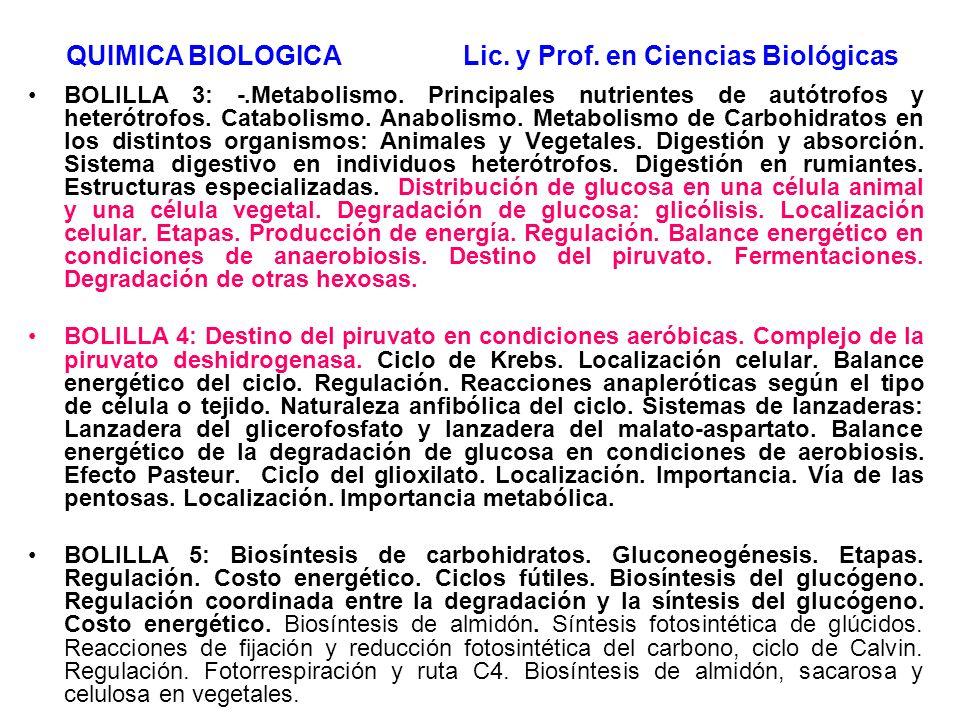 BOLILLA 3: -.Metabolismo. Principales nutrientes de autótrofos y heterótrofos. Catabolismo. Anabolismo. Metabolismo de Carbohidratos en los distintos