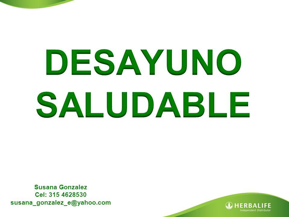 Susana Gonzalez Cel: 315 4628530 susana_gonzalez_e@yahoo.com