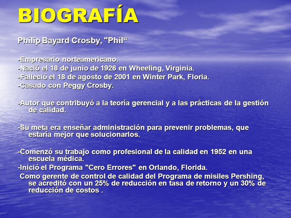 BIOGRAFÍA Philip Bayard Crosby,