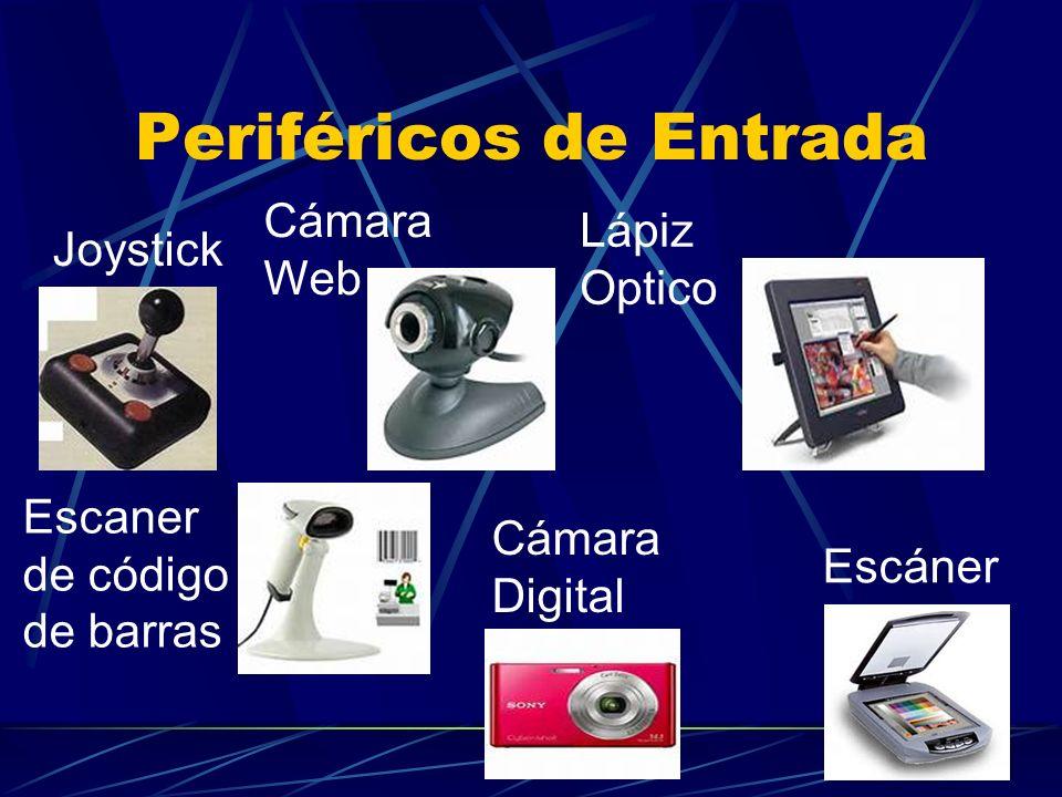 Periféricos de Entrada Joystick Escaner de código de barras Cámara Web Lápiz Optico Cámara Digital Escáner