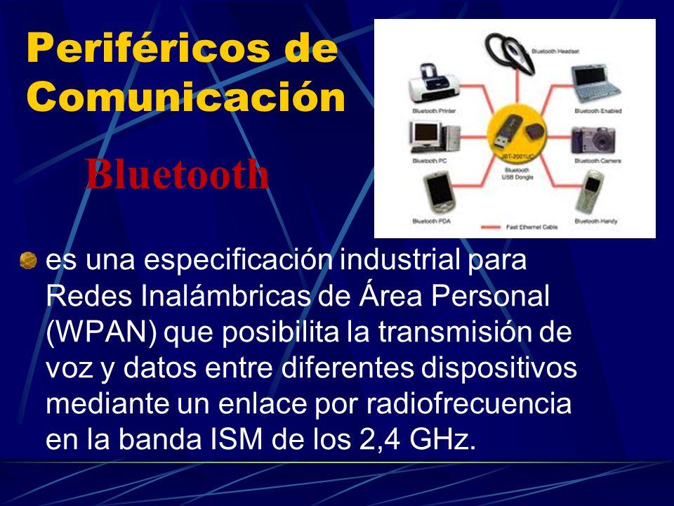 Periféricos de Comunicación es una especificación industrial para Redes Inalámbricas de Área Personal (WPAN) que posibilita la transmisión de voz y da