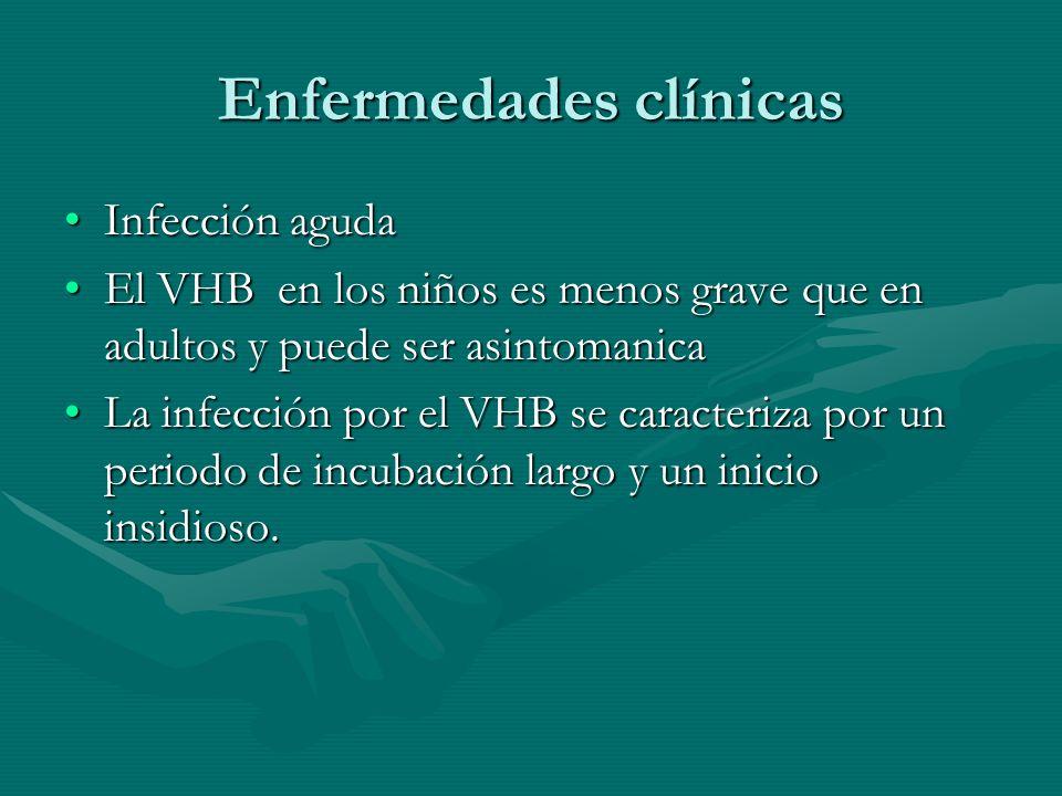 Infección agudaInfección aguda El VHB en los niños es menos grave que en adultos y puede ser asintomanicaEl VHB en los niños es menos grave que en adu