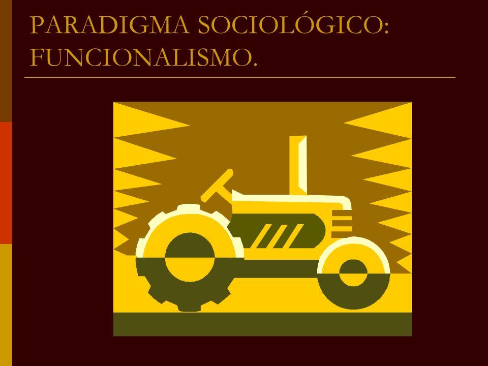 PARADIGMA SOCIOLÓGICO: FUNCIONALISMO.