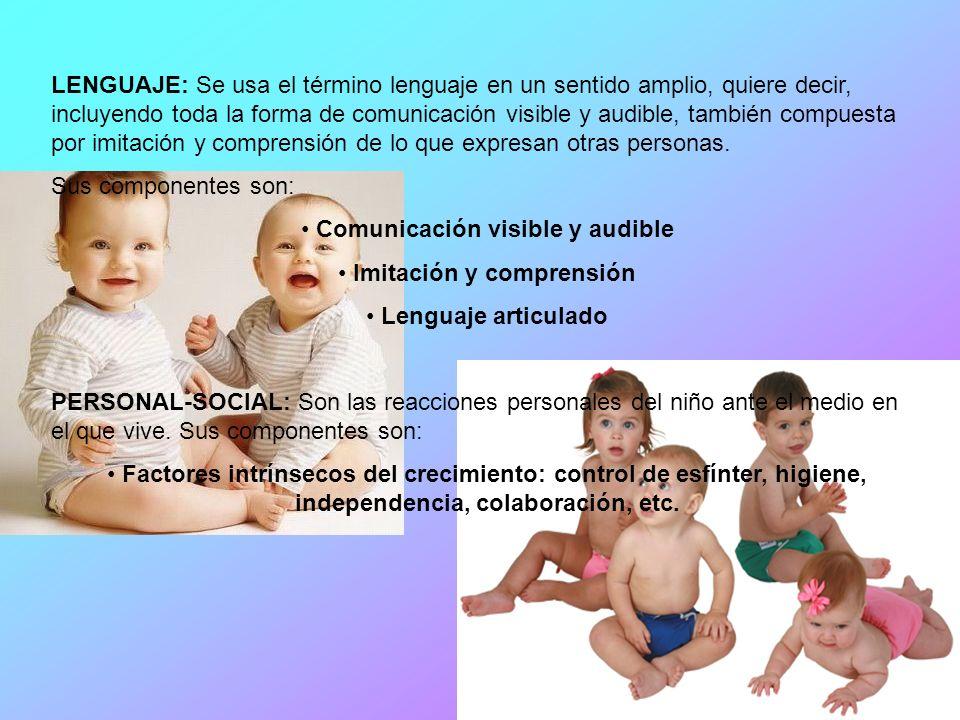 Gesell tomo los siguientes aspectos : MOTOR: Se encarga de las implicaciones neurológicas, capacidad motriz del niño, el cual es el punto de partida e