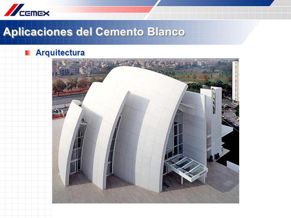 Aplicaciones del Cemento Blanco Arquitectura