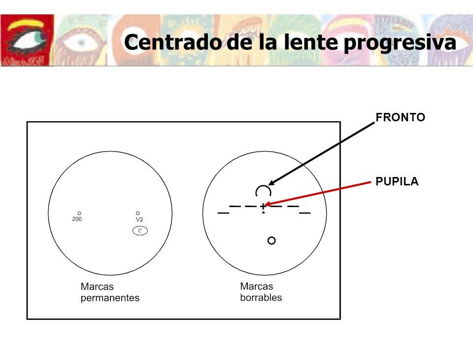 Centrado de la lente progresiva FRONTO PUPILA