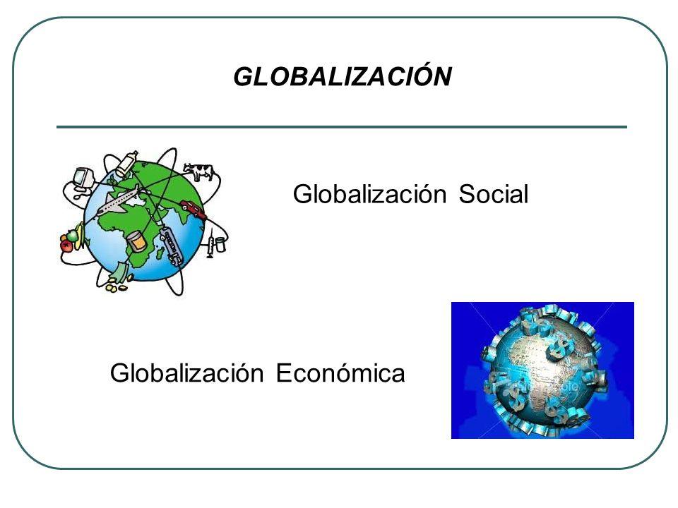 Globalización Social Globalización Económica