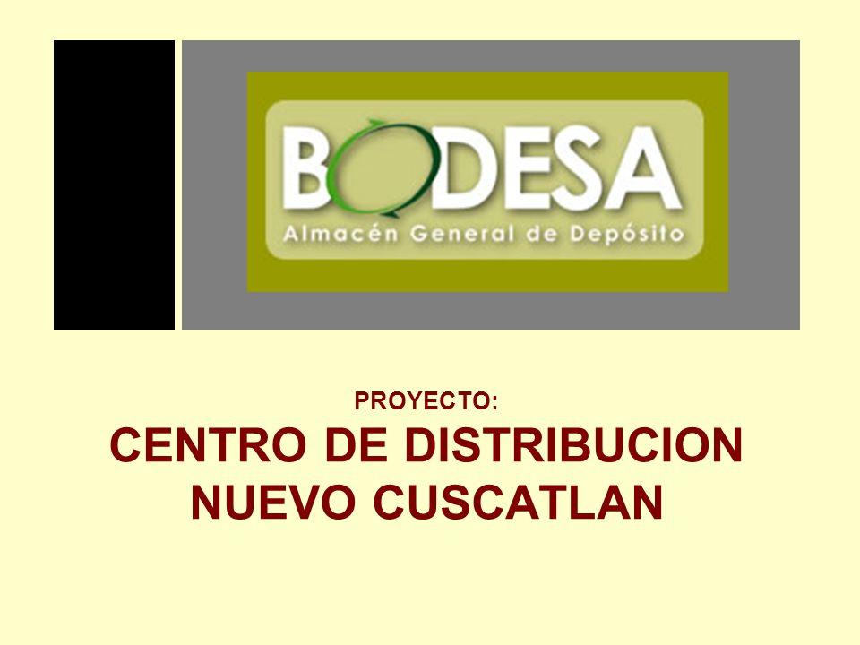 PROYECTO: CENTRO DE DISTRIBUCION NUEVO CUSCATLAN PRESENTA: