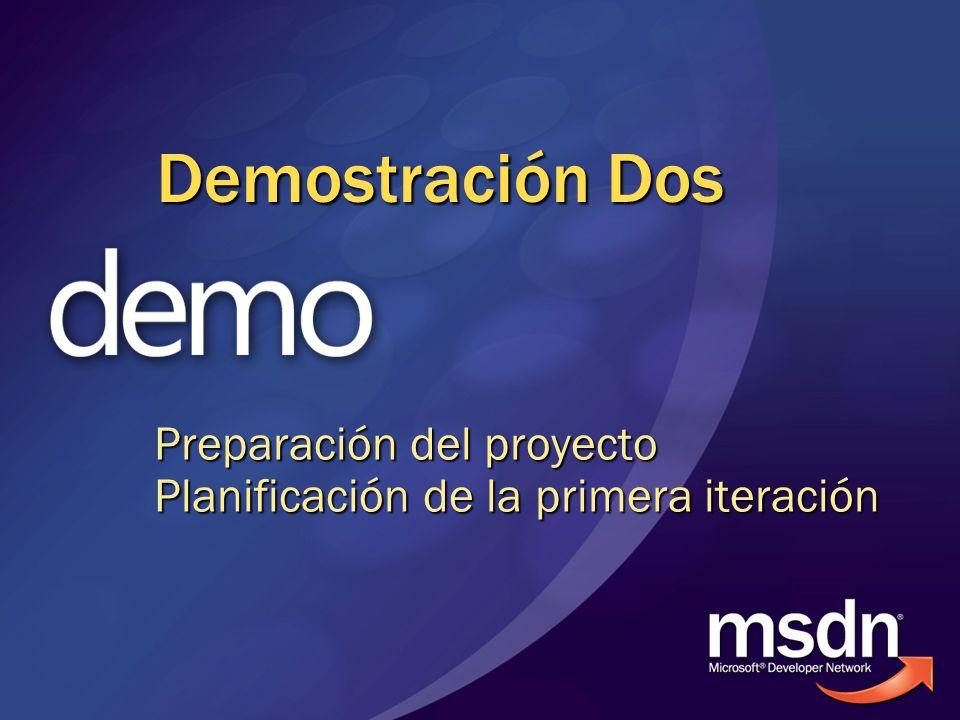 Demostración Dos Preparación del proyecto Planificación de la primera iteración
