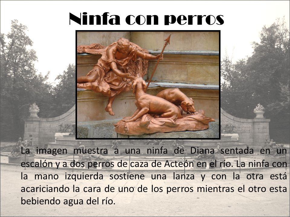 En la imagen se ve una de las ninfas de que acompañaban a Diana en sus cacerías.