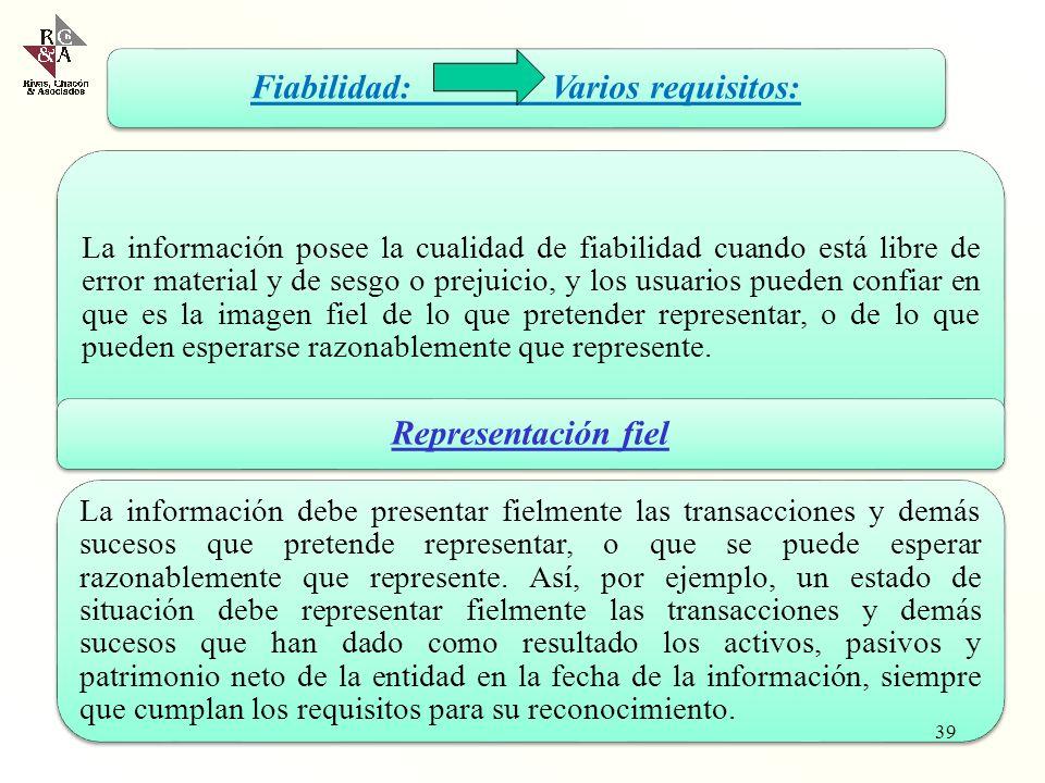 Importancia relativa o materialidad La información tiene importancia relativa, o es material, cuando su omisión o presentación errónea pueden influir