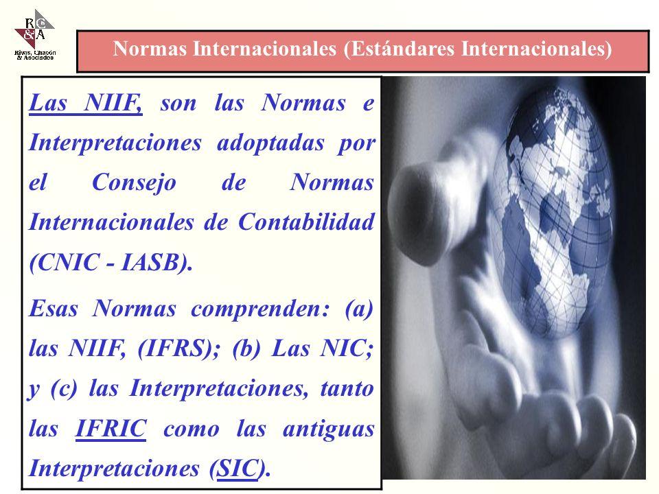 Las NIIF, son las Normas e Interpretaciones adoptadas por el Consejo de Normas Internacionales de Contabilidad (CNIC - IASB).