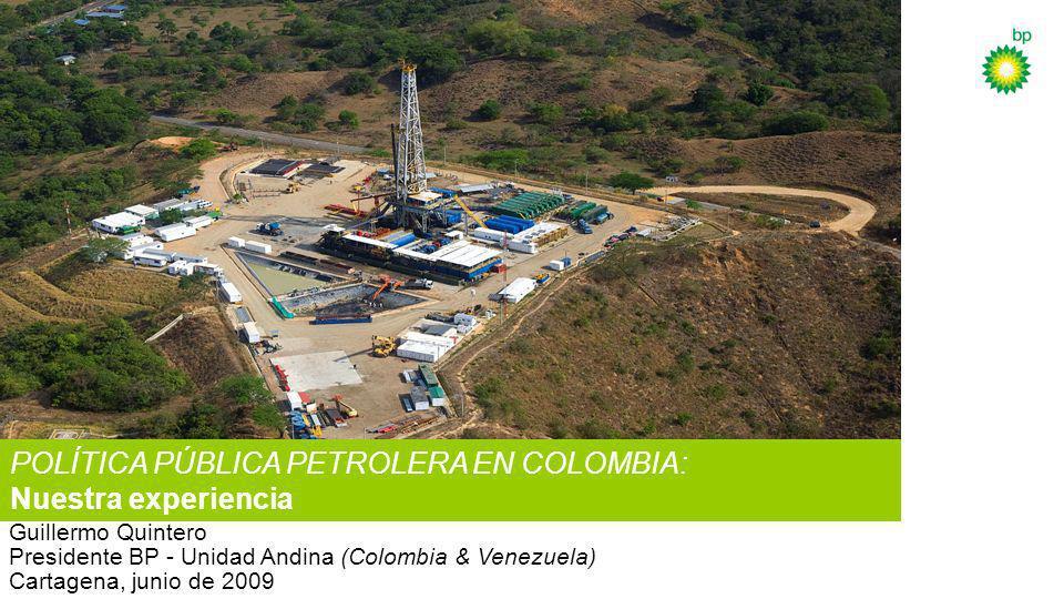Más de 20 buenos años en Colombia En el país desde 1965 3 campos maduros (Casanare) y 2 bloques exploratorios (Caribe) Más de mil millones de barriles equivalentes producidos 25%-30% de producción nacional (crudo y gas) Cerca de 20% (crudo) y 45% (gas) de reservas del país Múltiples premios nacionales y mundiales en seguridad industrial Desarrollo probado de gente y tecnología Relación de compromiso con la comunidad, nuestros socios y el país