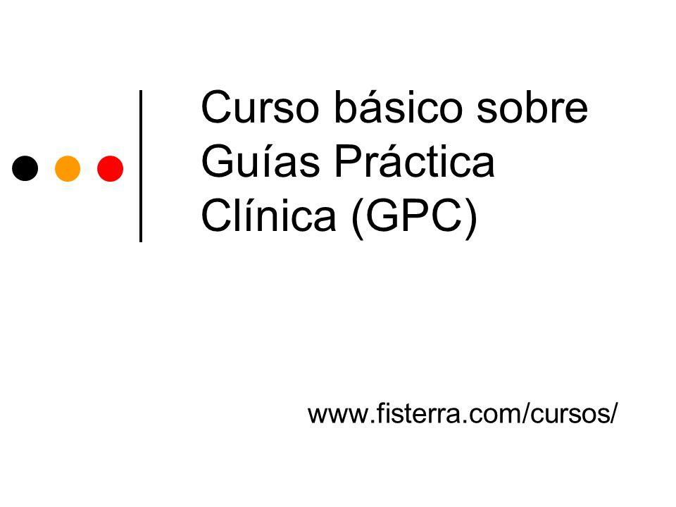 Características Objetivo Mejorar la competencia profesional sobre búsqueda, utilización y evaluación de GPC Dirigido a Farmacéuticos/as con interés en GPC Calendario Inicio 1/3 y finaliza 31/12 Nivel Básico