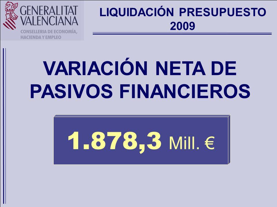 LIQUIDACIÓN DEL PRESUPUESTO DE LA GENERALITAT 2009