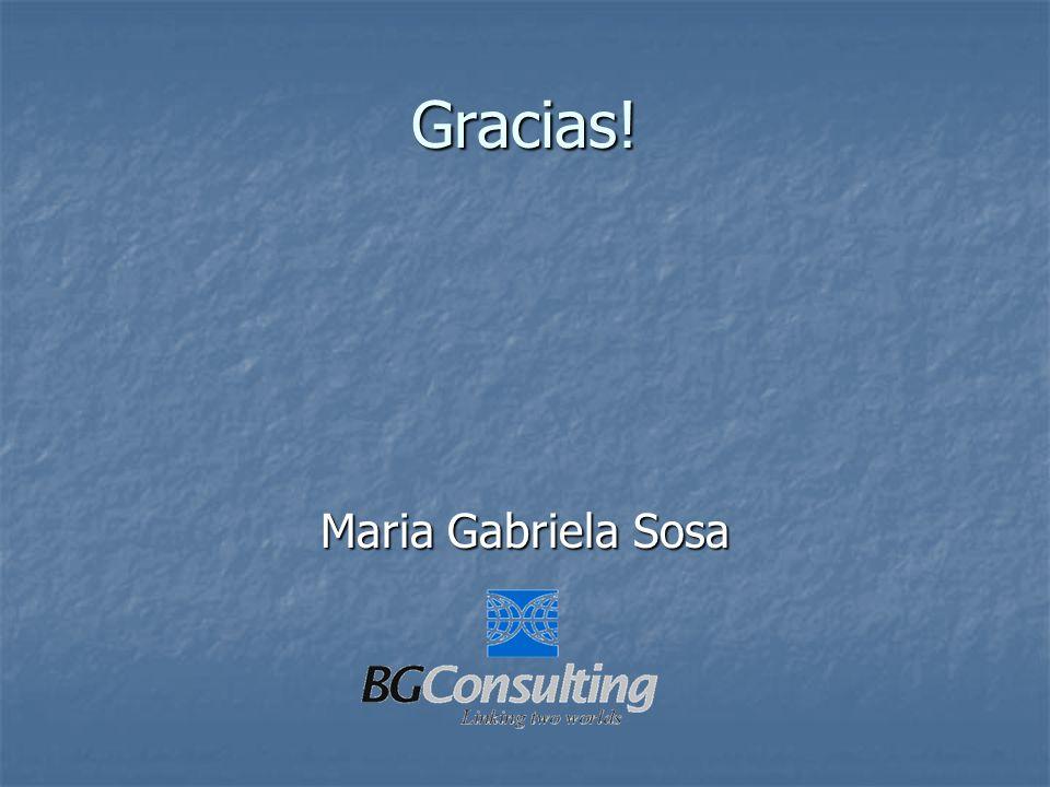 Gracias! Maria Gabriela Sosa