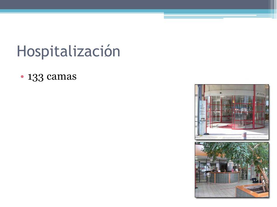 Hospitalizaci ِ ón 133 camas
