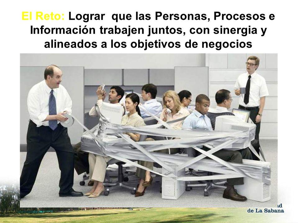 El Reto: Lograr que las Personas, Procesos e Información trabajen juntos, con sinergia y alineados a los objetivos de negocios