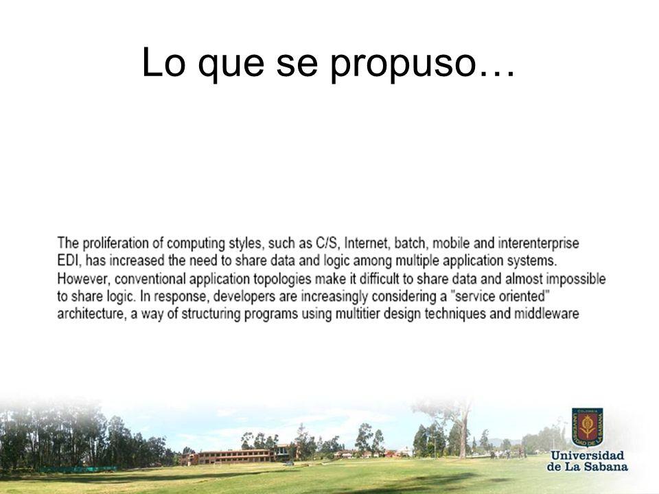 … un servicio.… arquitectura orientada a servicios (SOA).