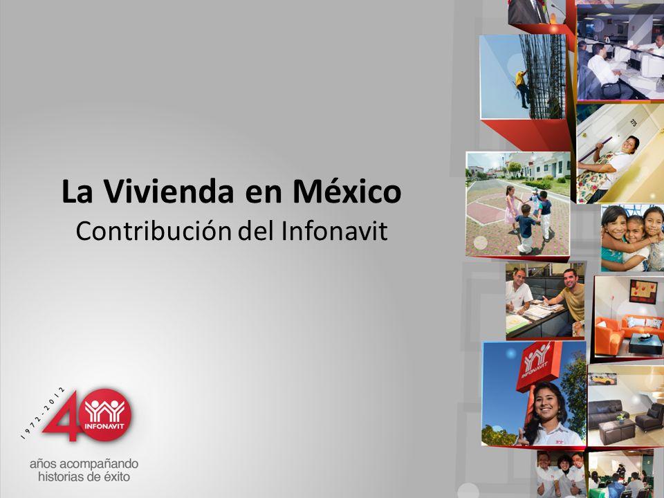 La Vivienda en México Contribución del Infonavit