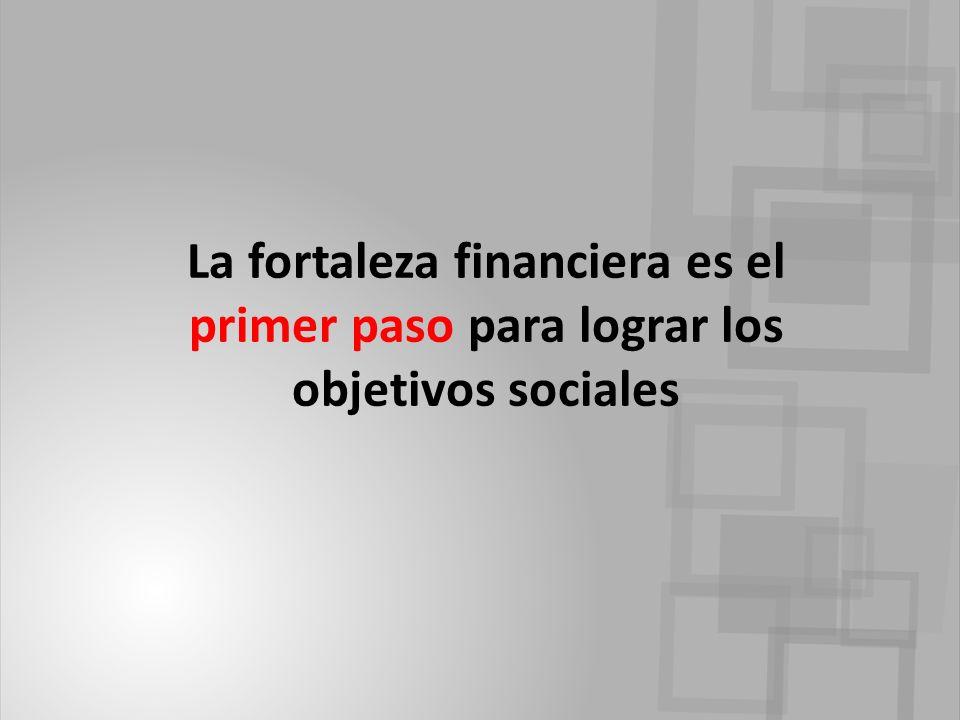La fortaleza financiera es el primer paso para lograr los objetivos sociales