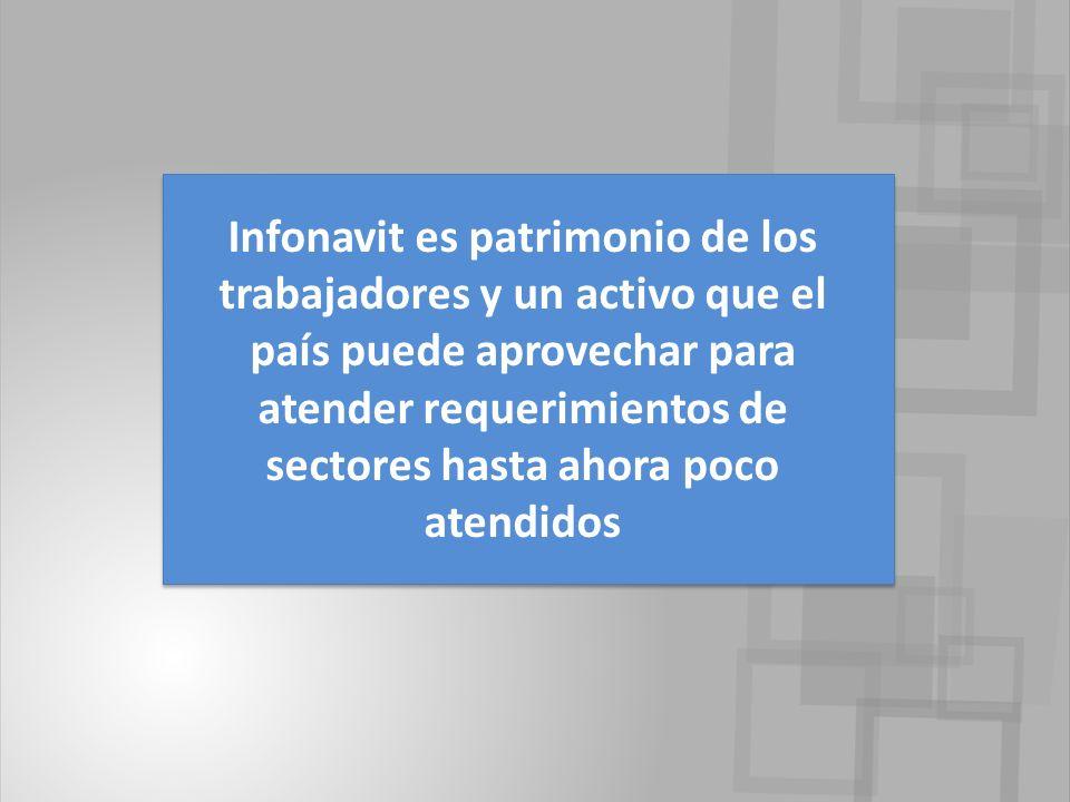 Infonavit es patrimonio de los trabajadores y un activo que el país puede aprovechar para atender requerimientos de sectores hasta ahora poco atendidos