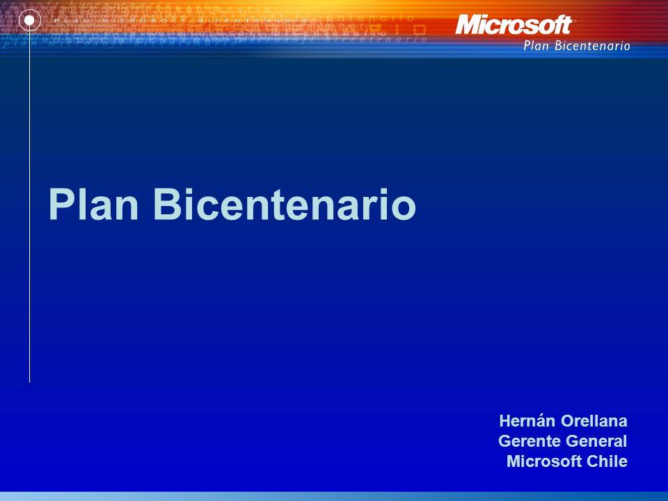 Hernán Orellana Gerente General Microsoft Chile Plan Bicentenario
