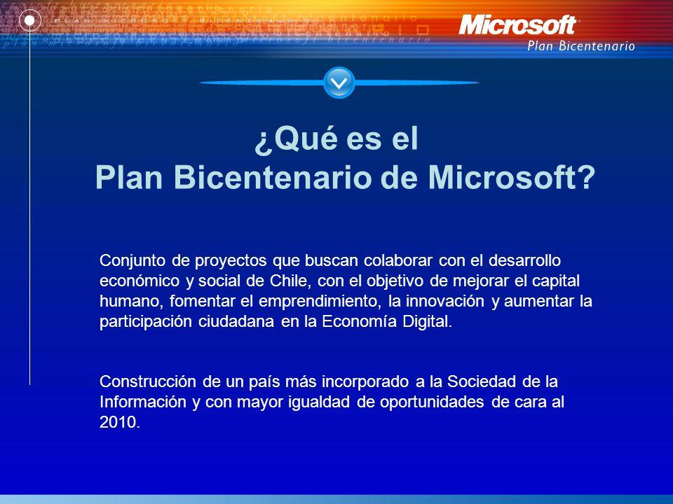 Conjunto de proyectos que buscan colaborar con el desarrollo económico y social de Chile, con el objetivo de mejorar el capital humano, fomentar el emprendimiento, la innovación y aumentar la participación ciudadana en la Economía Digital.