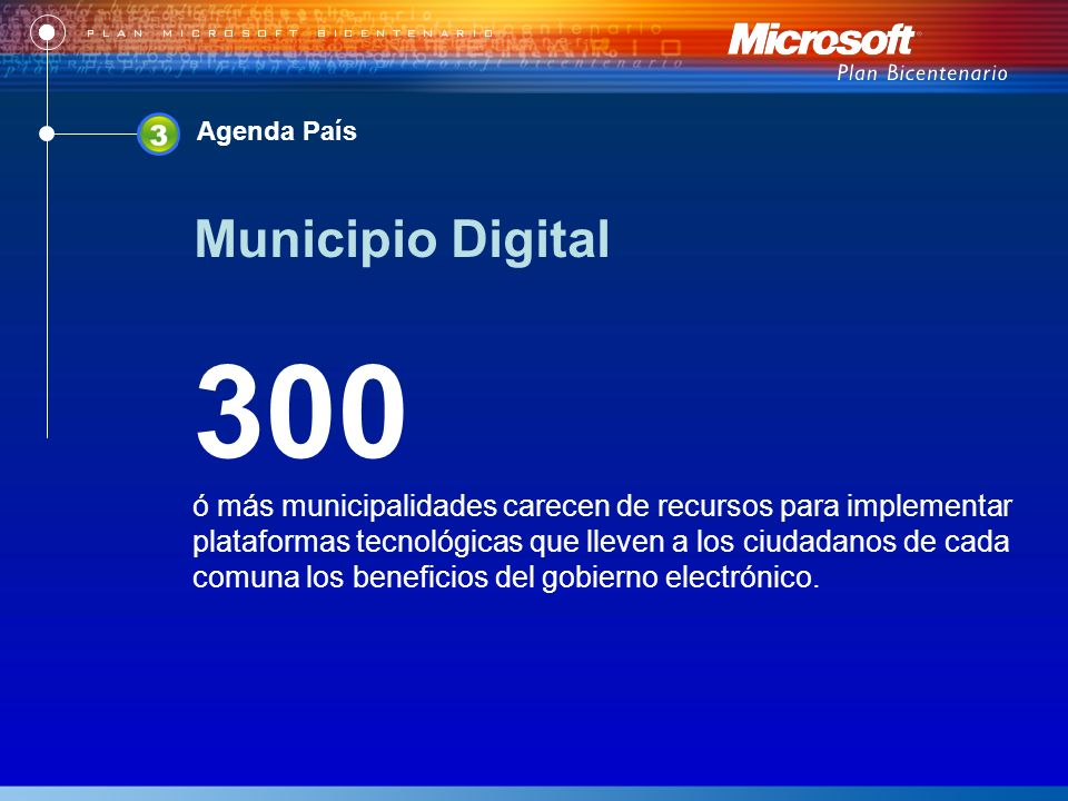300 ó más municipalidades carecen de recursos para implementar plataformas tecnológicas que lleven a los ciudadanos de cada comuna los beneficios del gobierno electrónico.