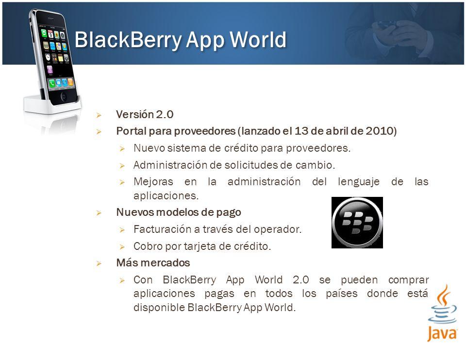 Versión 2.0 Portal para proveedores (lanzado el 13 de abril de 2010) Nuevo sistema de crédito para proveedores.