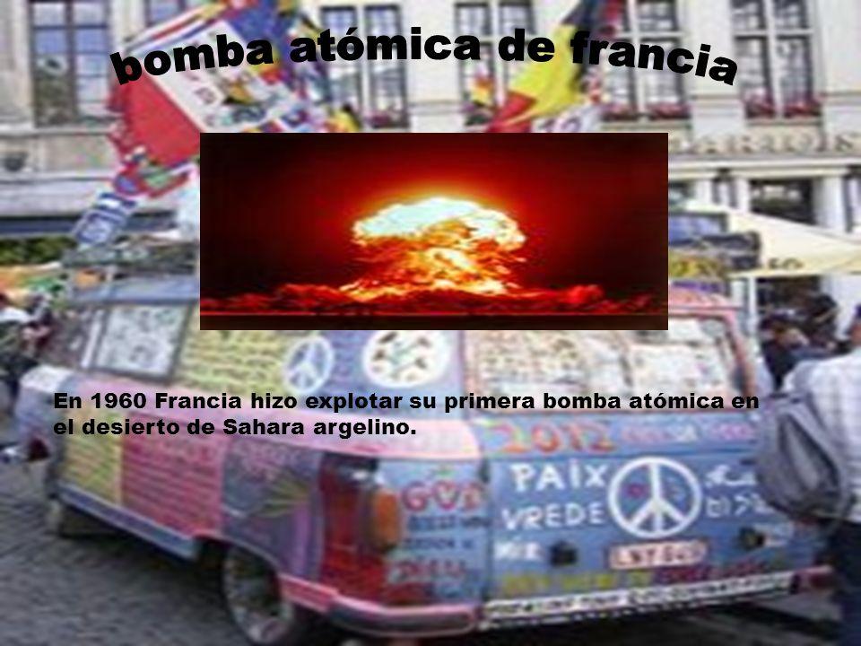 En 1960 Francia hizo explotar su primera bomba atómica en el desierto de Sahara argelino.