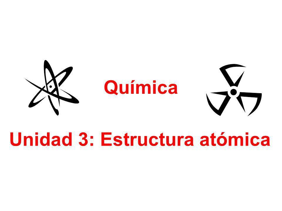 Unidad 3: Estructura atómica Química