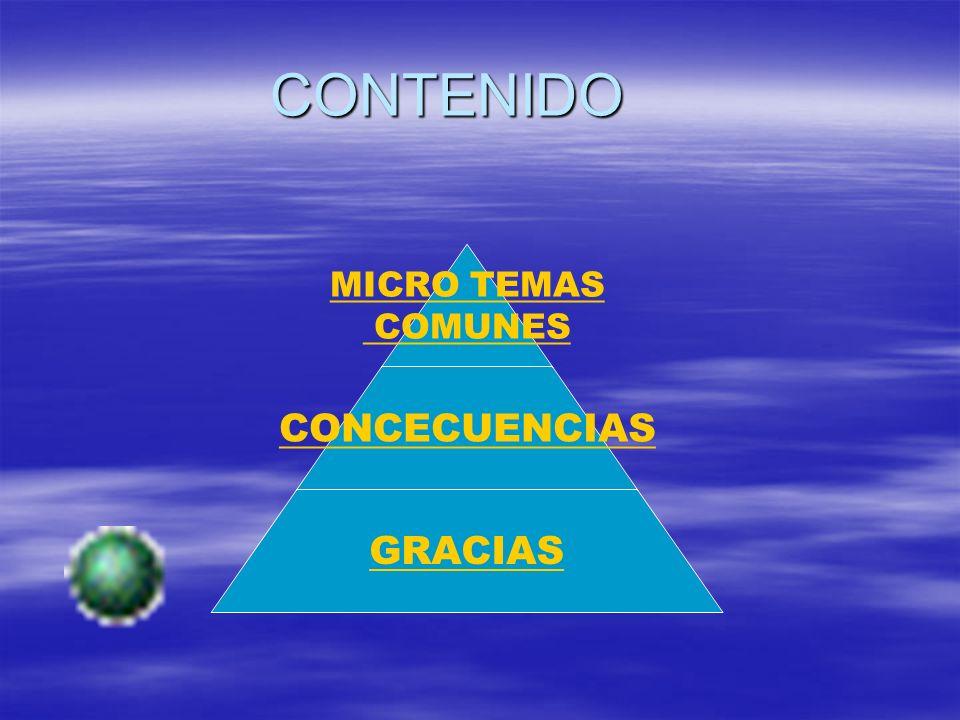 CONTENIDO MICRO TEMAS COMUNES CONCECUENCIAS GRACIAS