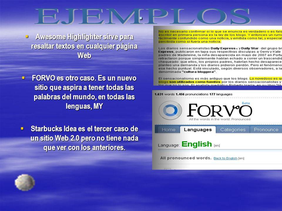 Awesome Highlighter sirve para resaltar textos en cualquier página Web Awesome Highlighter sirve para resaltar textos en cualquier página Web FORVO es otro caso.