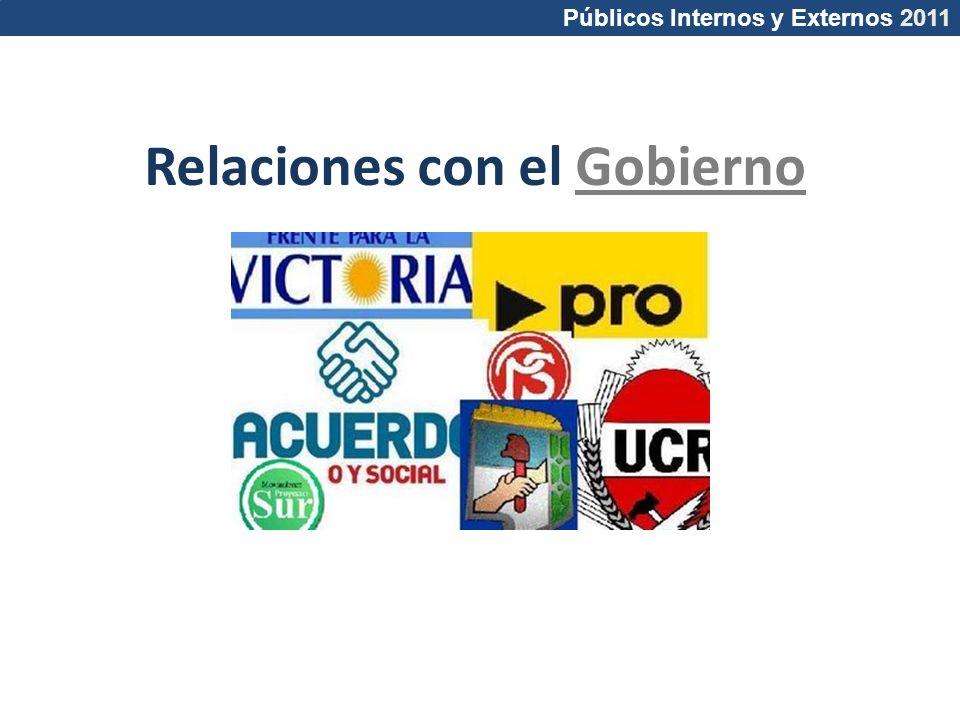 Relaciones con el Gobierno Públicos Internos y Externos 2011