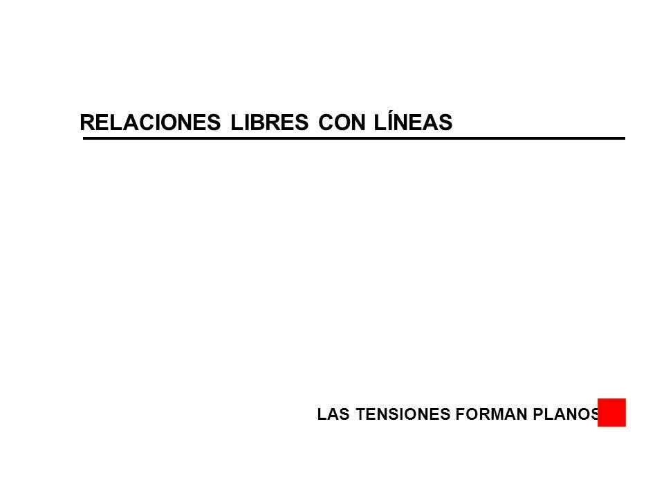 RELACIONES LIBRES CON LÍNEAS LAS TENSIONES FORMAN PLANOS