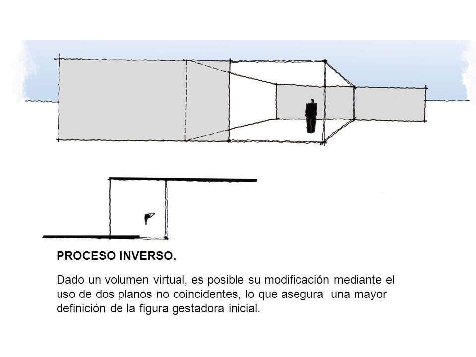 PROCESO INVERSO. Dado un volumen virtual, es posible su modificación mediante el uso de dos planos no coincidentes, lo que asegura una mayor definició