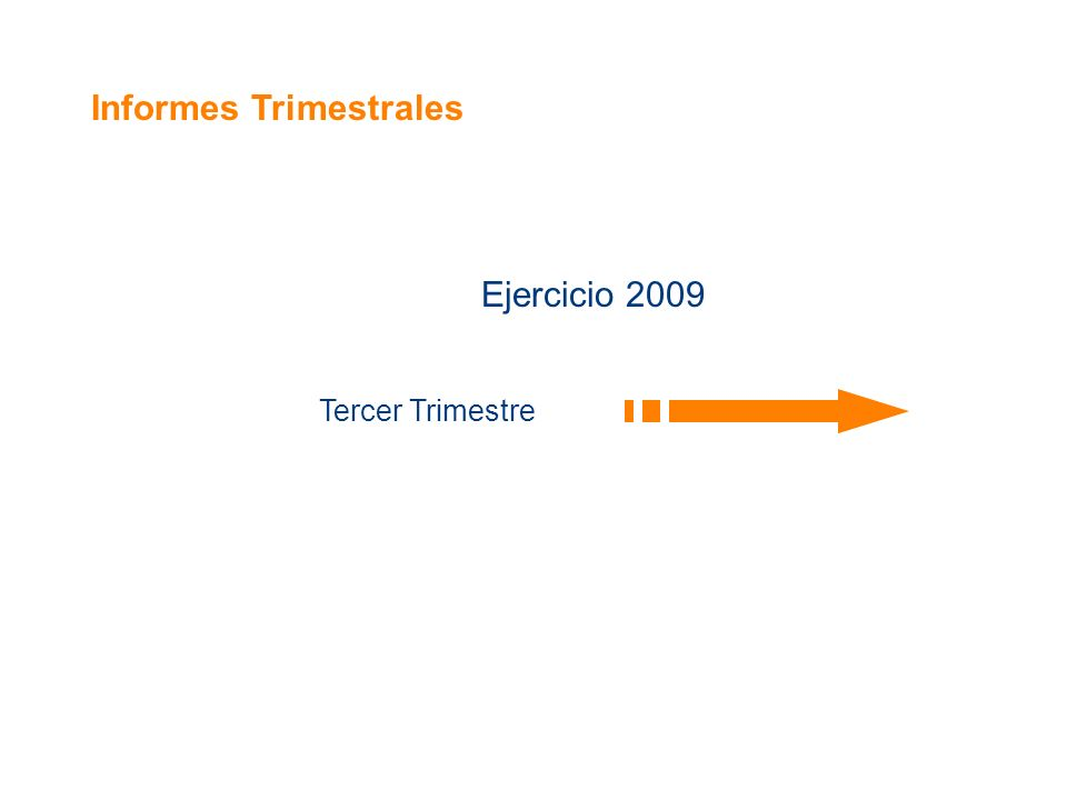 Informes Trimestrales Ejercicio 2009 Tercer Trimestre