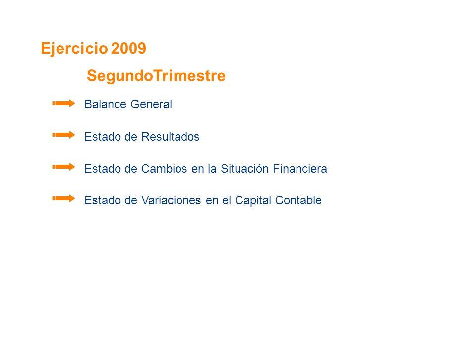 Ejercicio 2009 Balance General Estado de Resultados Estado de Cambios en la Situación Financiera Estado de Variaciones en el Capital Contable SegundoT