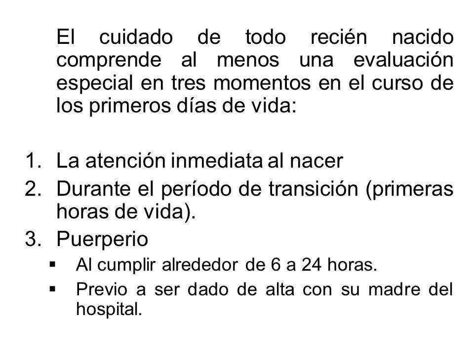 El médico que atiende el niño debe tener un conocimiento completo de los antecedentes perinatales para anticiparse a si recibirá un RN probablemente n