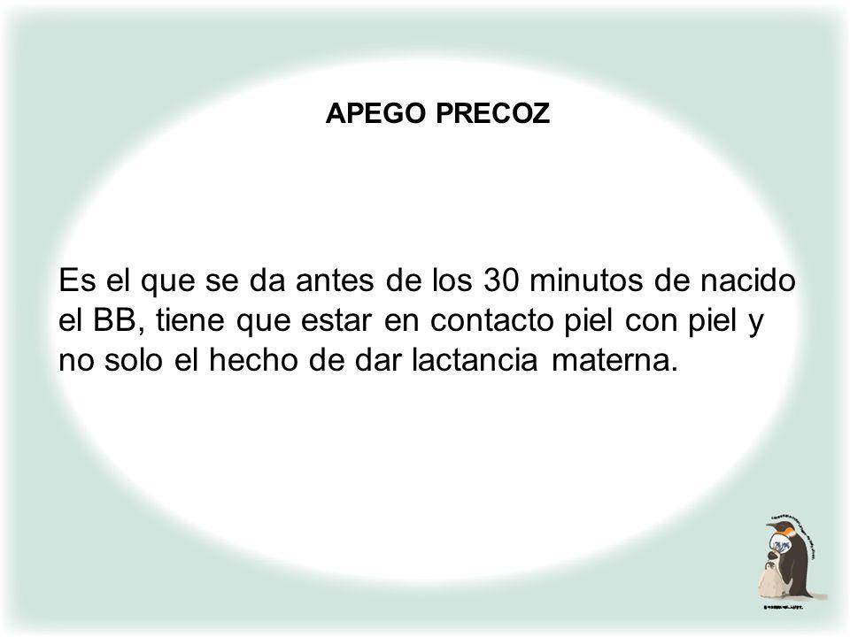 APEGO PRECOZ