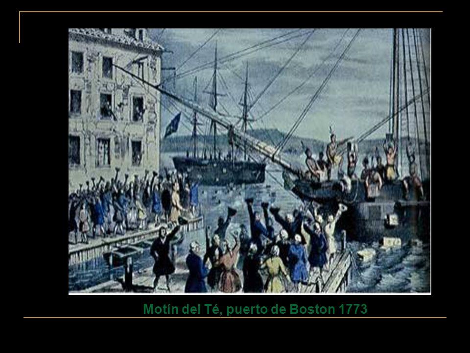 Motín del Té, puerto de Boston 1773