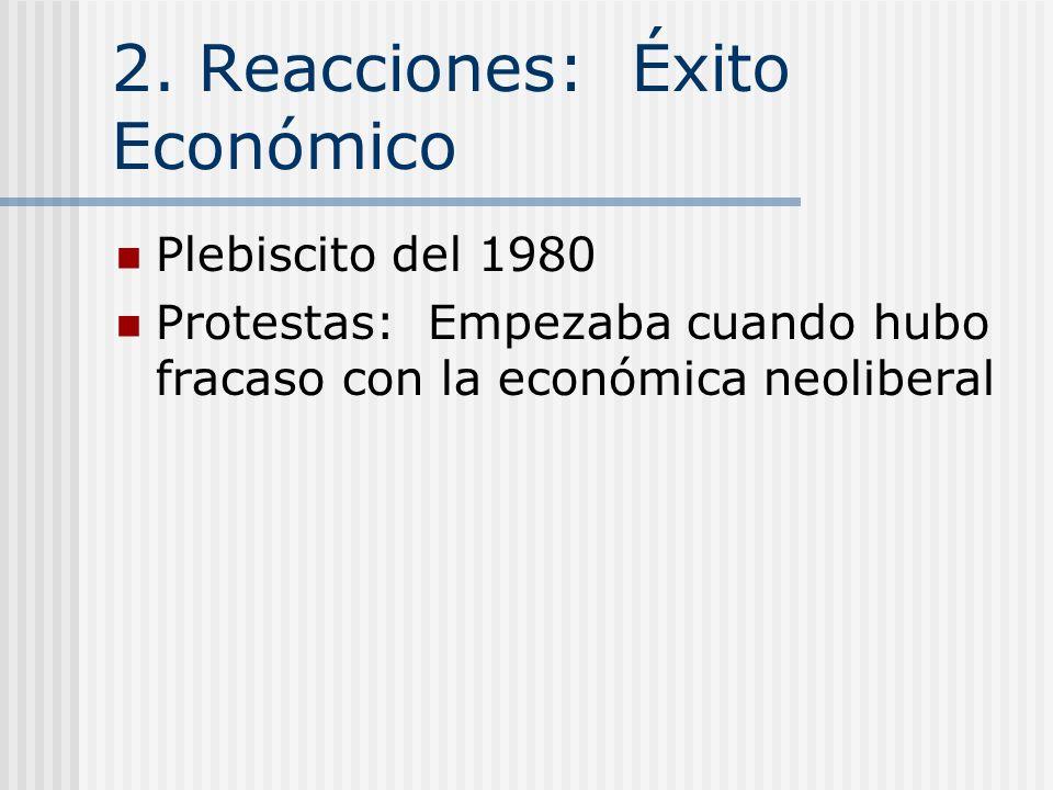 2. Reacciones: Violencia y Represion Asesinatos 1974: Se ejecutó a General Carlos Prats por bomba en auto en Buenos Aires 1975: Atentó asesinar al PDC